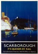 Scarborough, Tunny Fleet, Yorkshire.  LNER Vintage Travel Poster by Frank Henry Mason